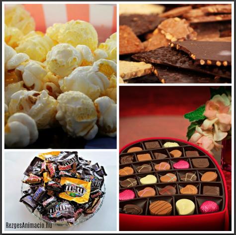Csoki és pattogatott kukorica a mozizáshoz :)