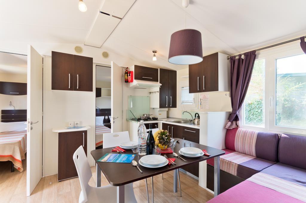 Mobil ház a Garda tó mellett - nappali