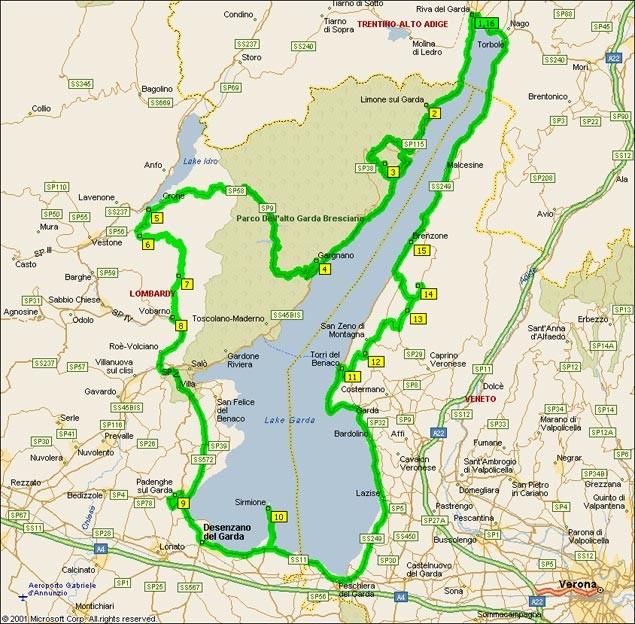 Garda tó térképe