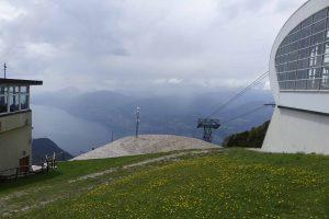 A Monte Baldo felvonójáról ilyen a kilátás