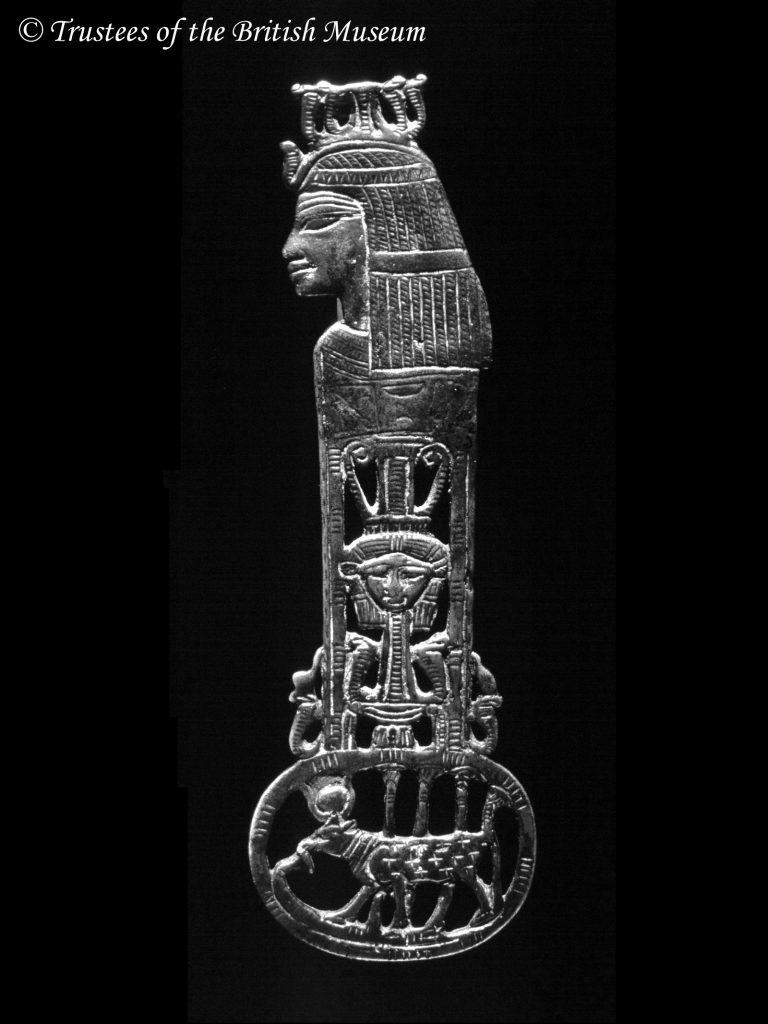 Egyiptomi bronz menat ellensúly